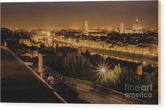 An Evening In Florence Wood Print