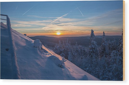 an evening on the Achtermann, Harz Wood Print