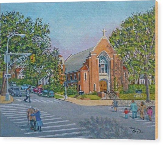 An Historical Church Wood Print
