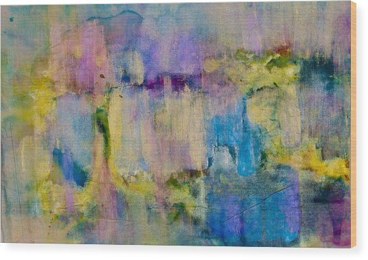 An Iridescent Oil Slick  Wood Print by Don  Wright