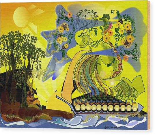 An Island Dream Wood Print by Gary Kennedy