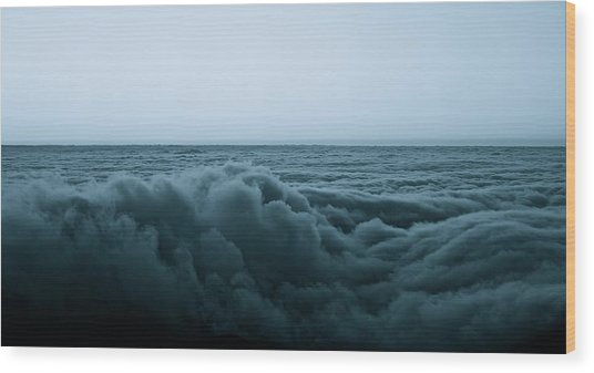 An Ocean Of Clouds Wood Print