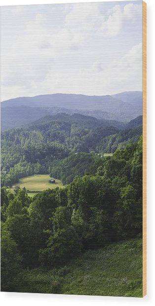An Old Shack Hidden Away In The Blue Ridge Mountains Wood Print