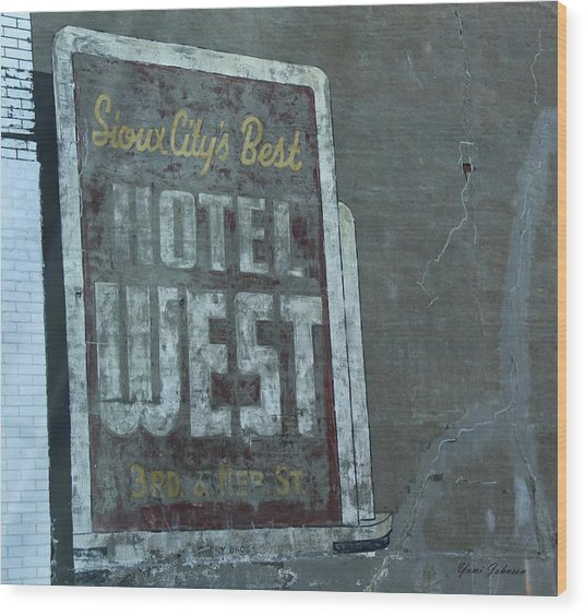 An Old Sign Wood Print
