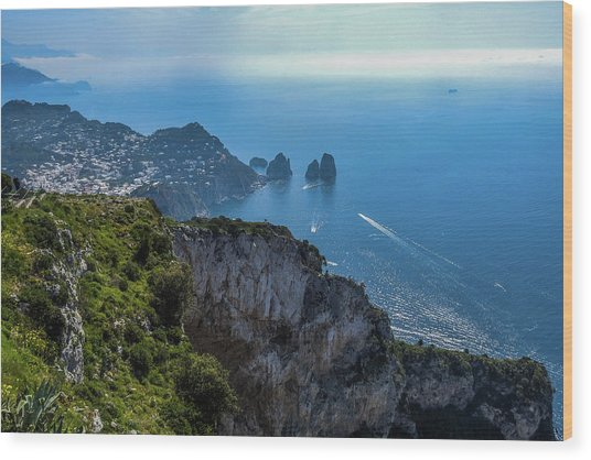 Anacapri On Isle Of Capri Wood Print