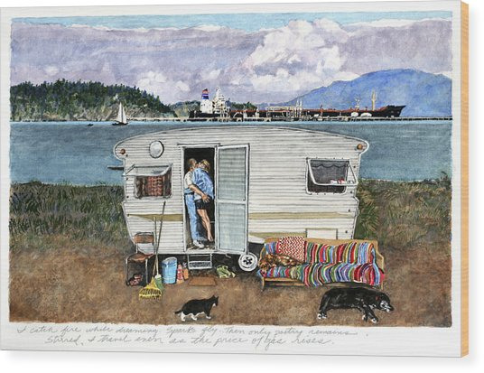 Anacortes Fuel Wood Print by Perry Woodfin