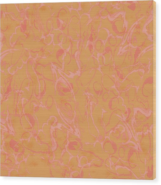 Analogous Dribble Painting Wood Print