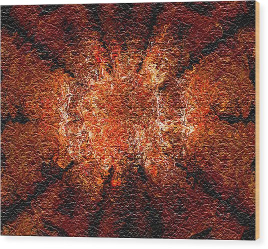 Analytical Explosion Wood Print