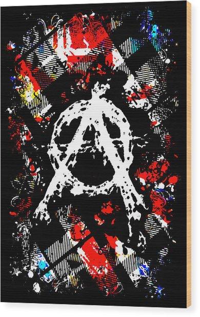 Anarchy Punk Wood Print