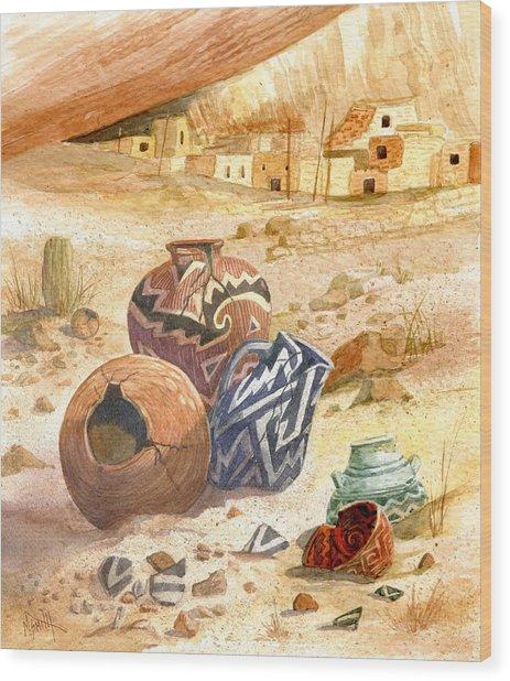 Anasazi Remnants Wood Print