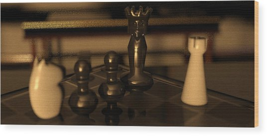 Anastasias Mate Wood Print