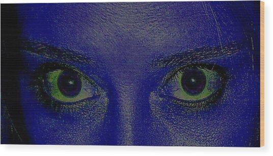 Anatomy Of The Eyes Wood Print by Debbie May