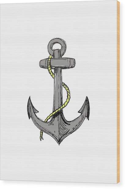 Anchor Wood Print