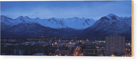 Anchorage At Sunrise Wood Print