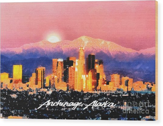 Anchorage - Bright-named Wood Print