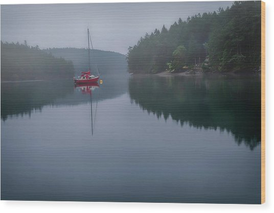 Anchored At Horton Bay Wood Print