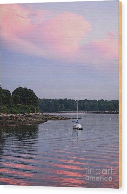 Anchored At Peaks Island, Maine  -07828 Wood Print