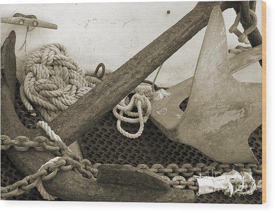 Anchors Wood Print