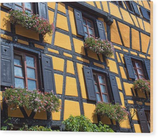 Ancient Alsace Auberge Wood Print