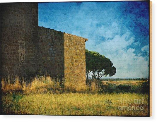 Ancient Church - Italy Wood Print