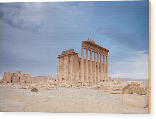 Ancient City Of Palmyra Ruins Again Wood Print