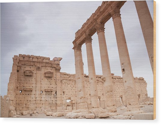Ancient City Of Palmyra Ruins Wood Print