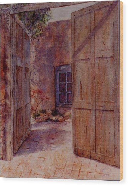 Ancient Doors Wood Print
