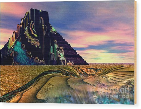 Ancient Memory Sunset On America Wood Print by Rebecca Phillips