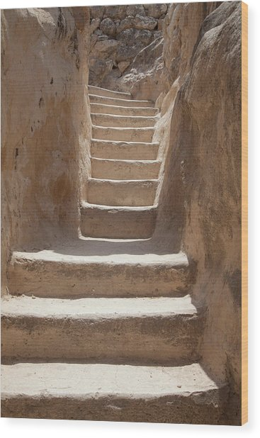 Ancient Stairs Wood Print
