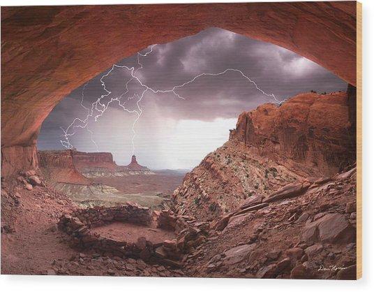 Ancient Storm Wood Print