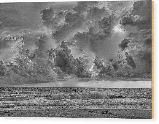 And The Rains Came 2 - Clouds Wood Print