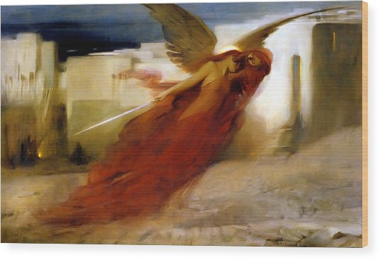 And There Was A Great Cry In Egypt Wood Print by Arthur Hacker