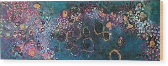 Wood Print featuring the painting And Yet You Are Loved by Laurie Maves ART
