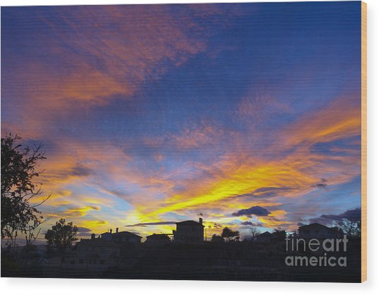 Andalusian Sunset Wood Print