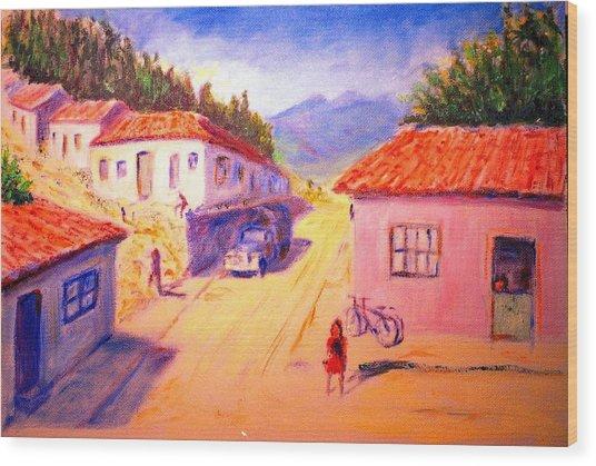 Andean Village Wood Print by Horacio Prada