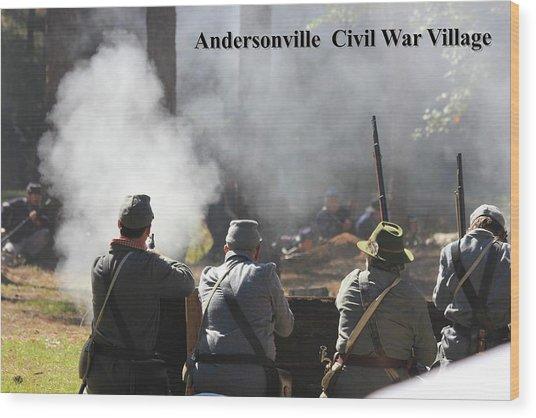 Andersonville Civil War Village Wood Print