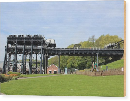 Anderton Boat Lift Wood Print