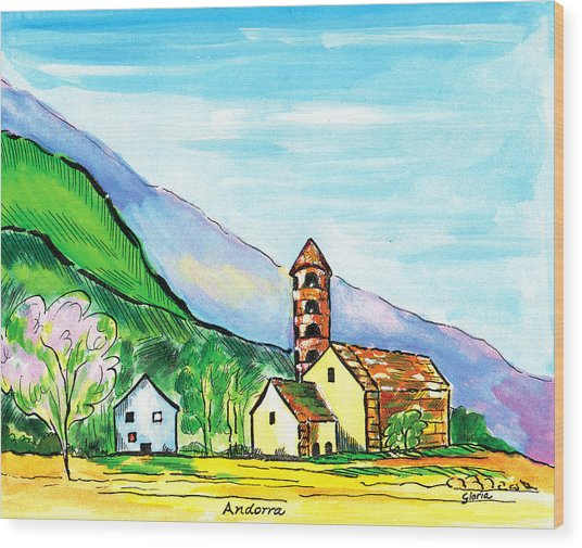 Andorra Wood Print