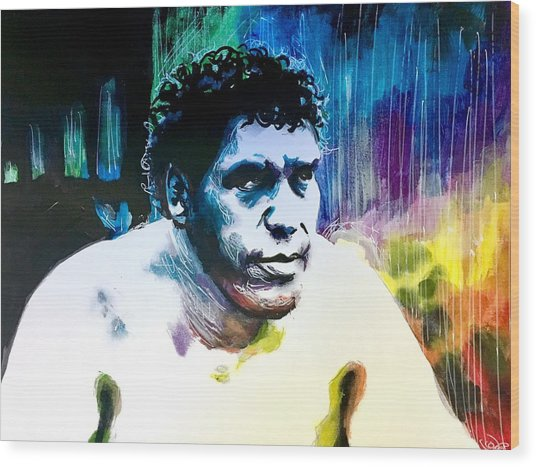 Andre The Giant Wood Print
