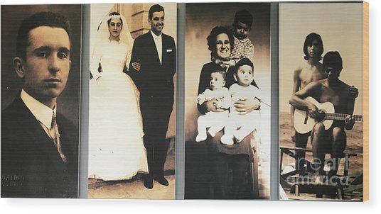 Andrea Bocelli Family Wood Print