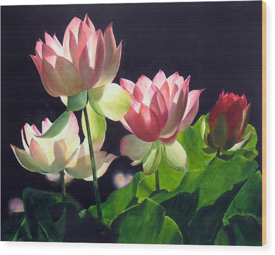 Andrea's Lillies Wood Print