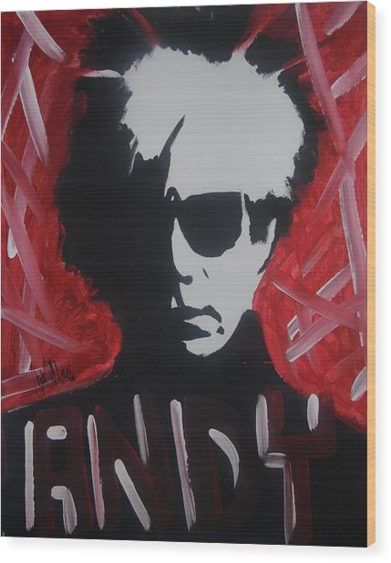 Andy, Andy Wood Print