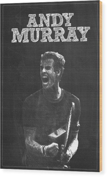 Andy Murray Wood Print