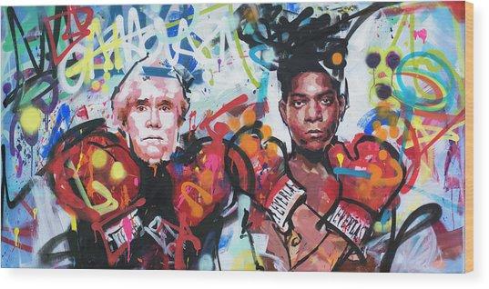 Andy Warhol And Jean-michel Basquiat Wood Print