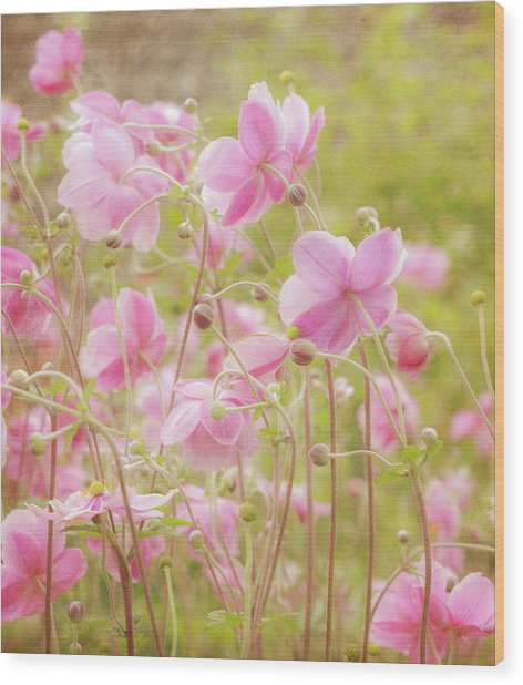 Anemone Dance Wood Print
