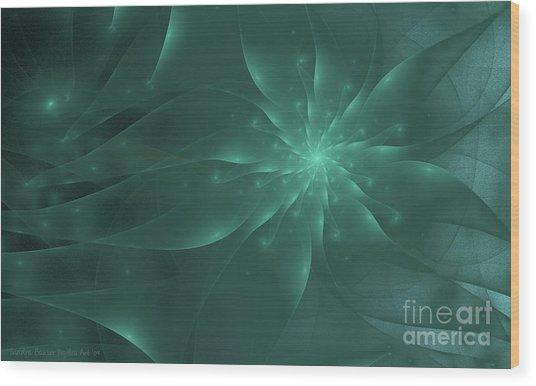 Wood Print featuring the digital art Anemone by Sandra Bauser Digital Art