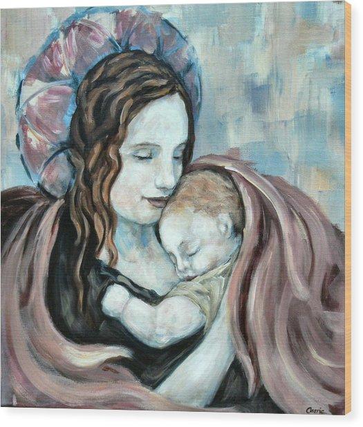 Angel And Baby No. 5 Wood Print