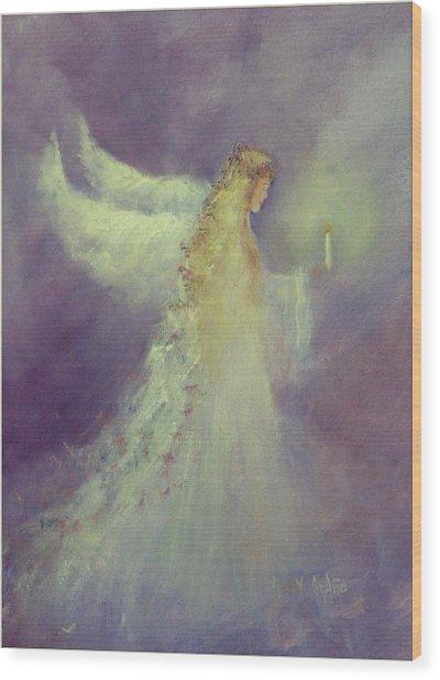 Angel Bright Wood Print by Sally Seago