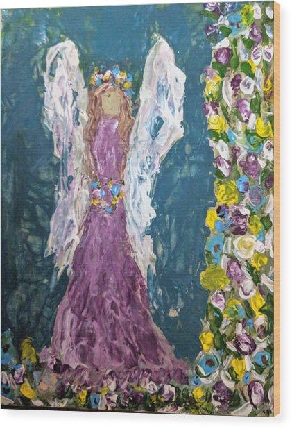 Angel Diva Wood Print