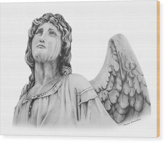 Angel Eyes Wood Print